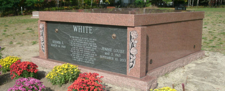 White Double Mausoleum