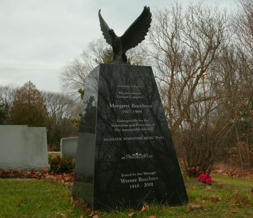 Custom Monument with Bronze Eagle